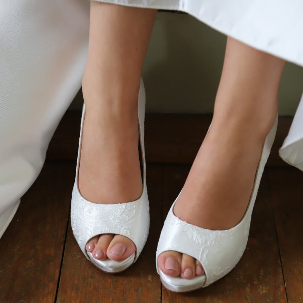 Perfect Bridal Celia Shoes - Ivory Satin 3