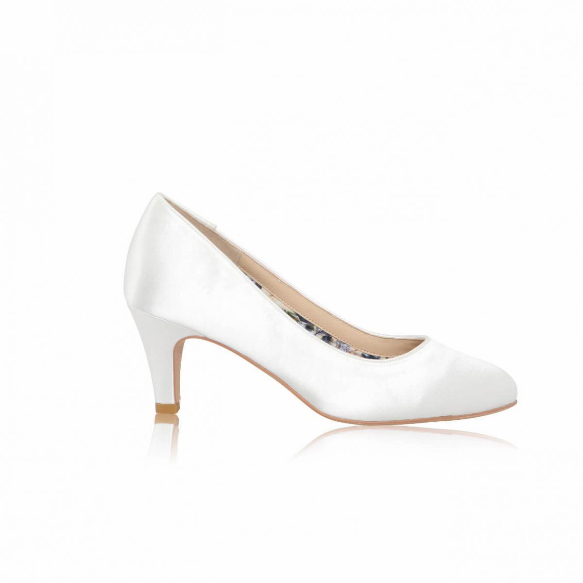 Perfect Bridal Erica Shoes - Ivory Satin - Wide Fit 1