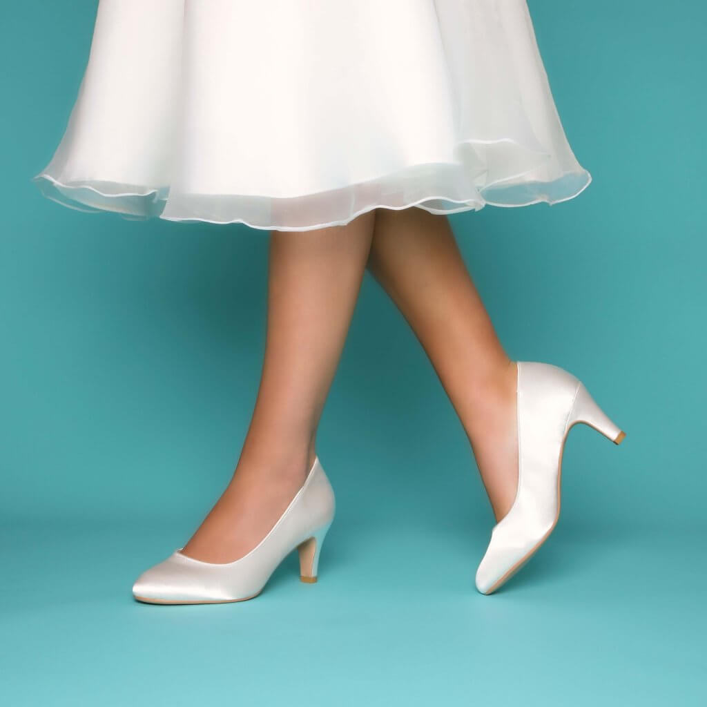 Perfect Bridal Erica Shoes - Ivory Satin - Wide Fit 2
