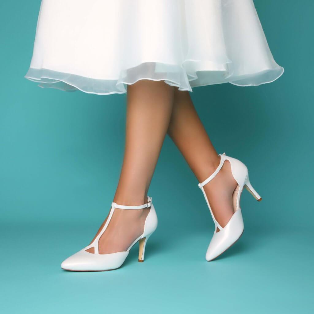 Perfect Bridal Jaime Shoe - Ivory Pearlised Leather 2