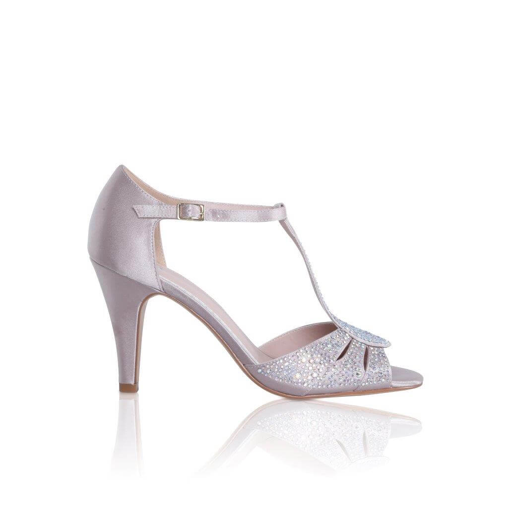 Perfect Bridal Perla Shoes - Nude Satin 1