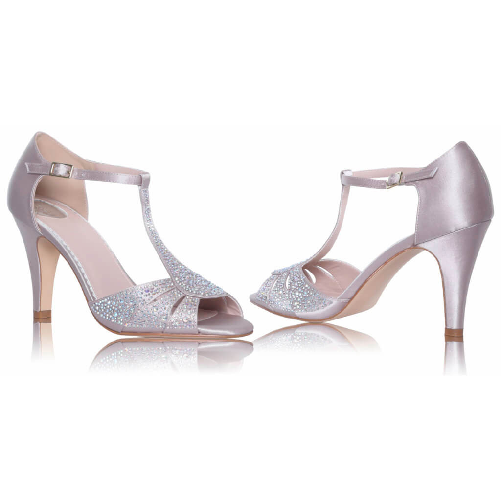 Perfect Bridal Perla Shoes - Nude Satin 3