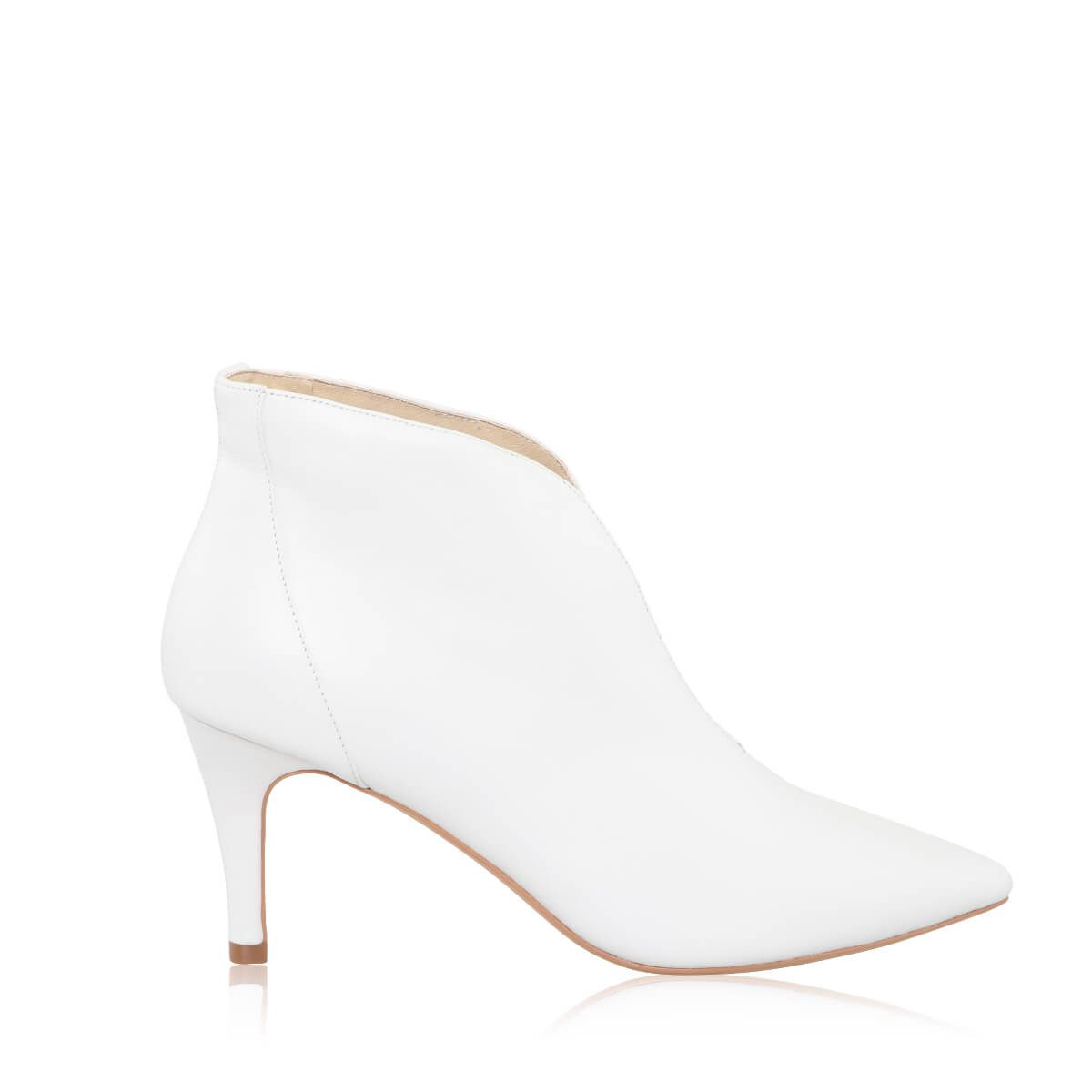 Perfect Bridal Zara Boots - Ivory Leather 1