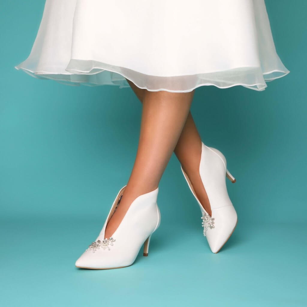 Perfect Bridal Zara Boots - Ivory Leather 3