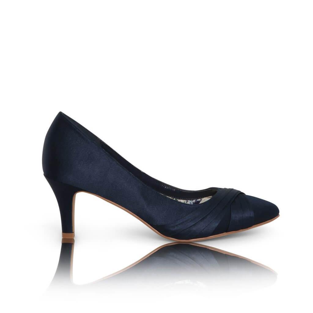 Perfect Bridal Sally Shoes - Navy 1