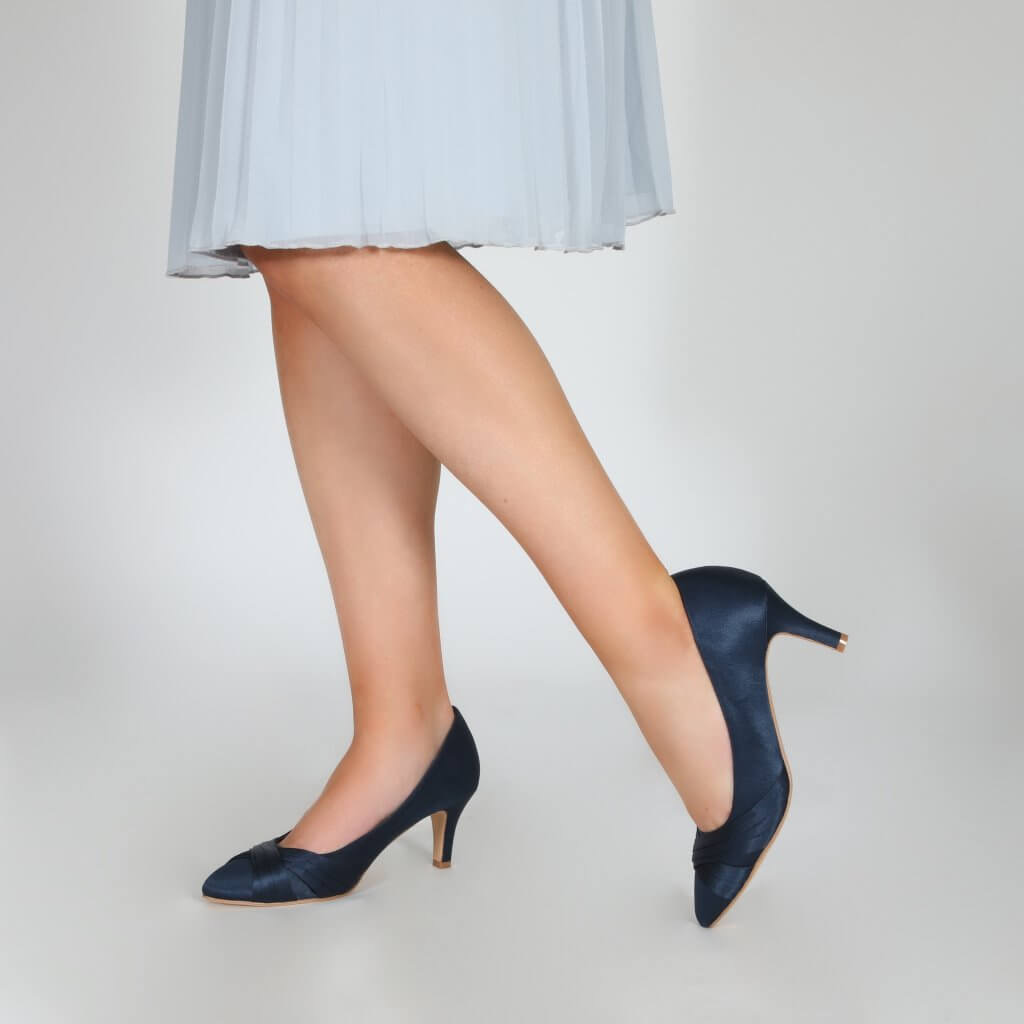 Perfect Bridal Sally Shoes - Navy 2