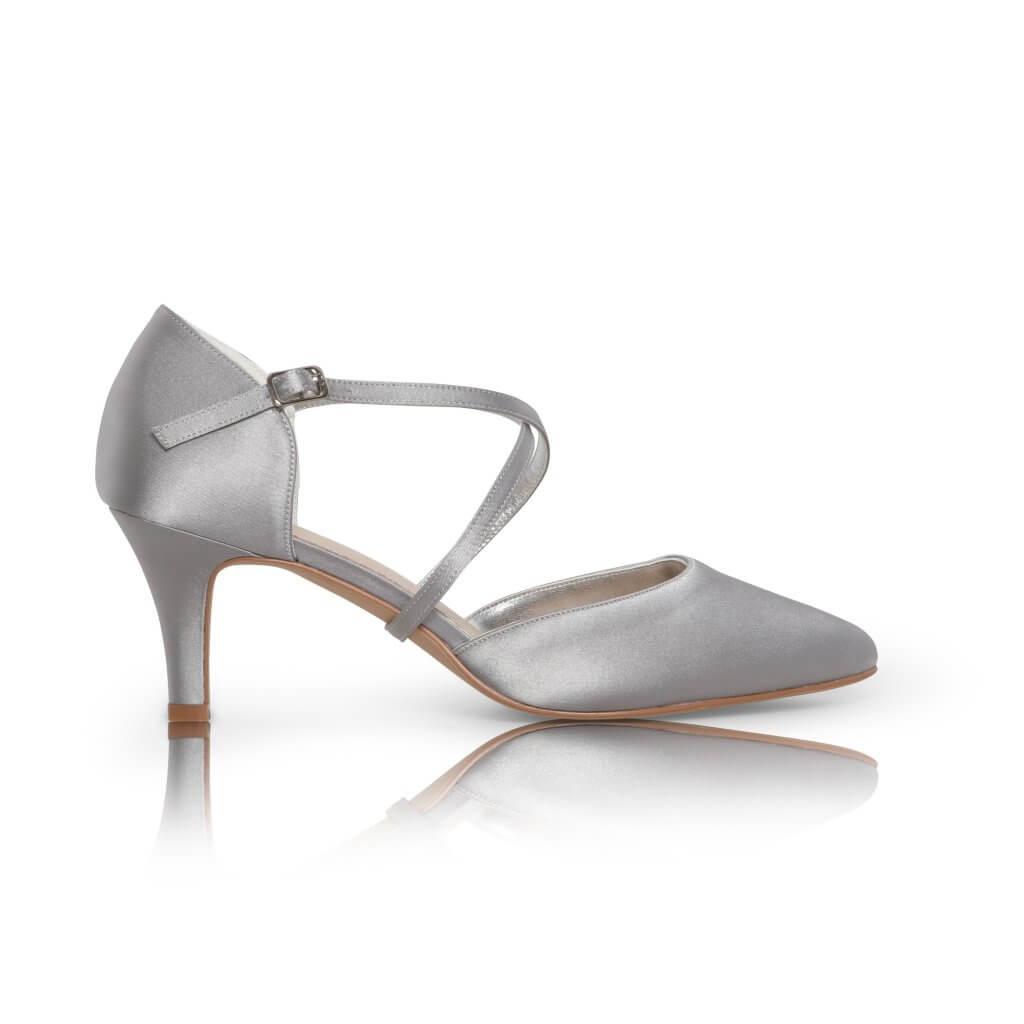 Perfect Bridal Sonya Shoes - Silver Satin 1