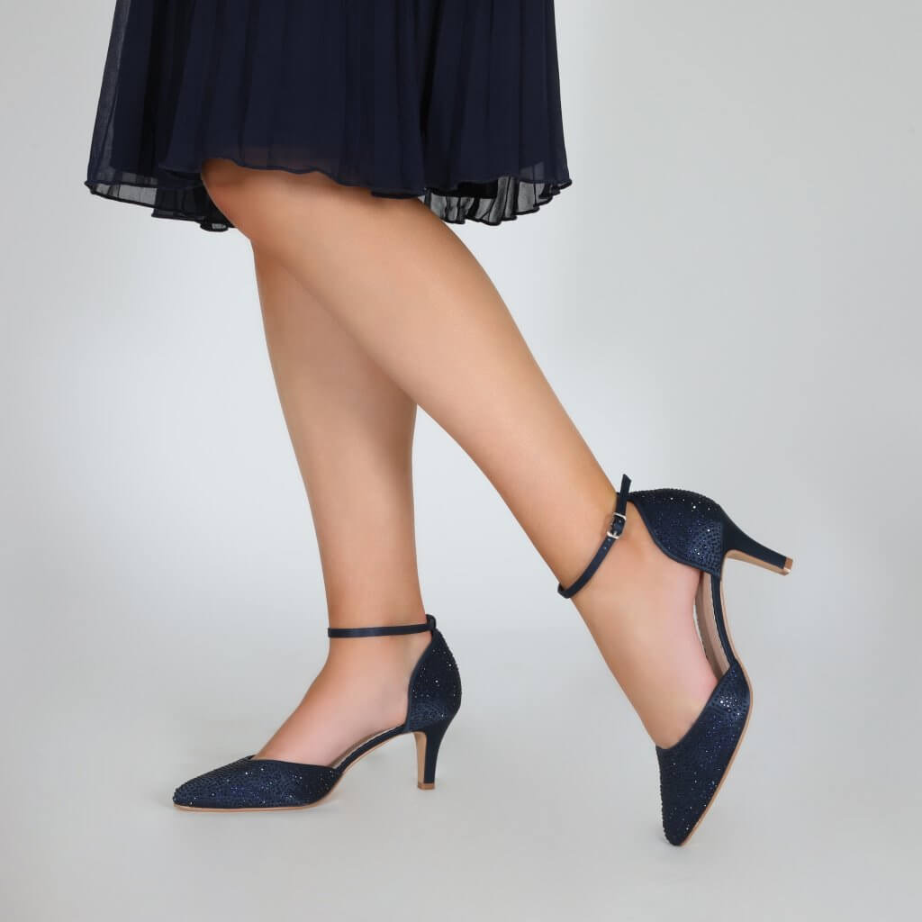 Perfect Bridal Xena Shoes - Navy 2