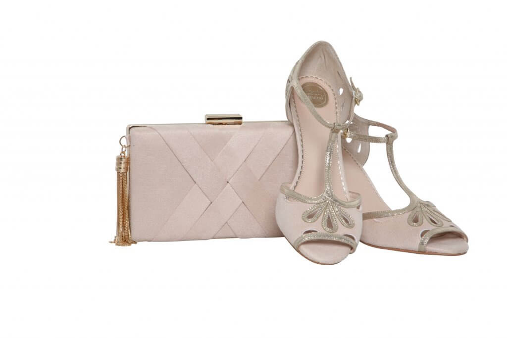 Perfect Bridal Anise Bag - Blush Ultra suede 2