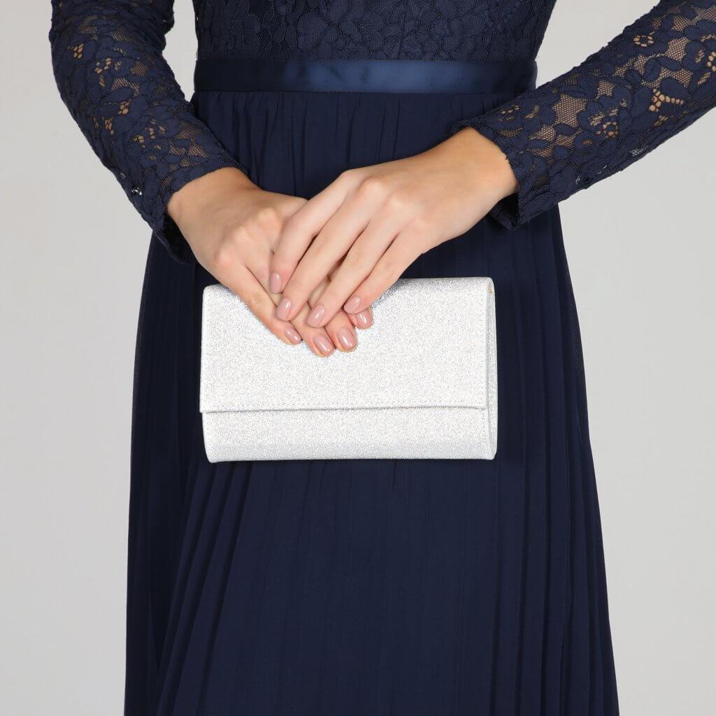 Perfect Bridal Lola Bridal Bag - Silver Shimmer 2