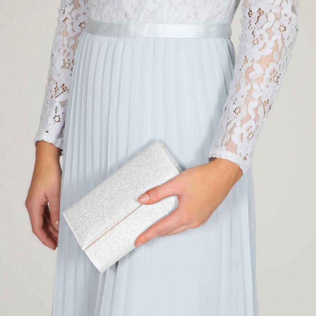 Perfect Bridal Lola Bridal Bag - Silver Shimmer 3