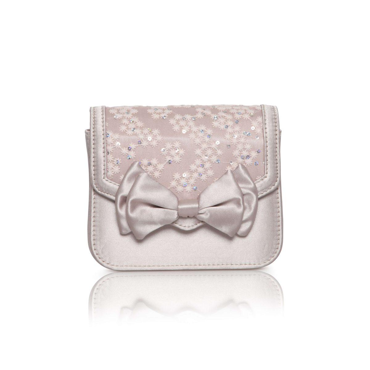 Perfect Bridal Pepper Bridal Bag - Taupe Satin/Lace 1