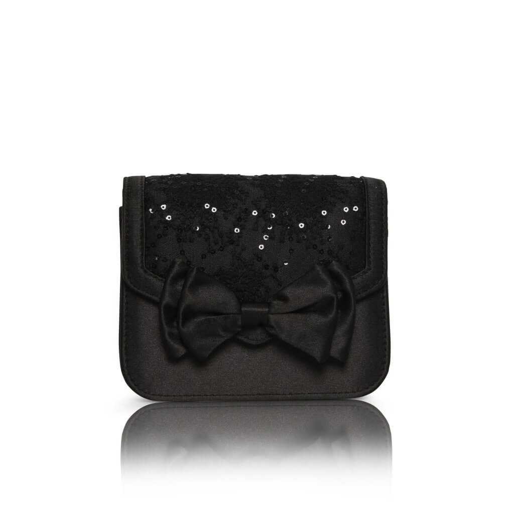 Perfect Bridal Pepper Bridal Bag - Black Satin/Lace 1