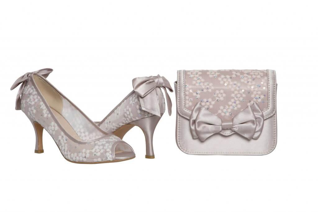Perfect Bridal Pepper Bridal Bag - Taupe Satin/Lace 4