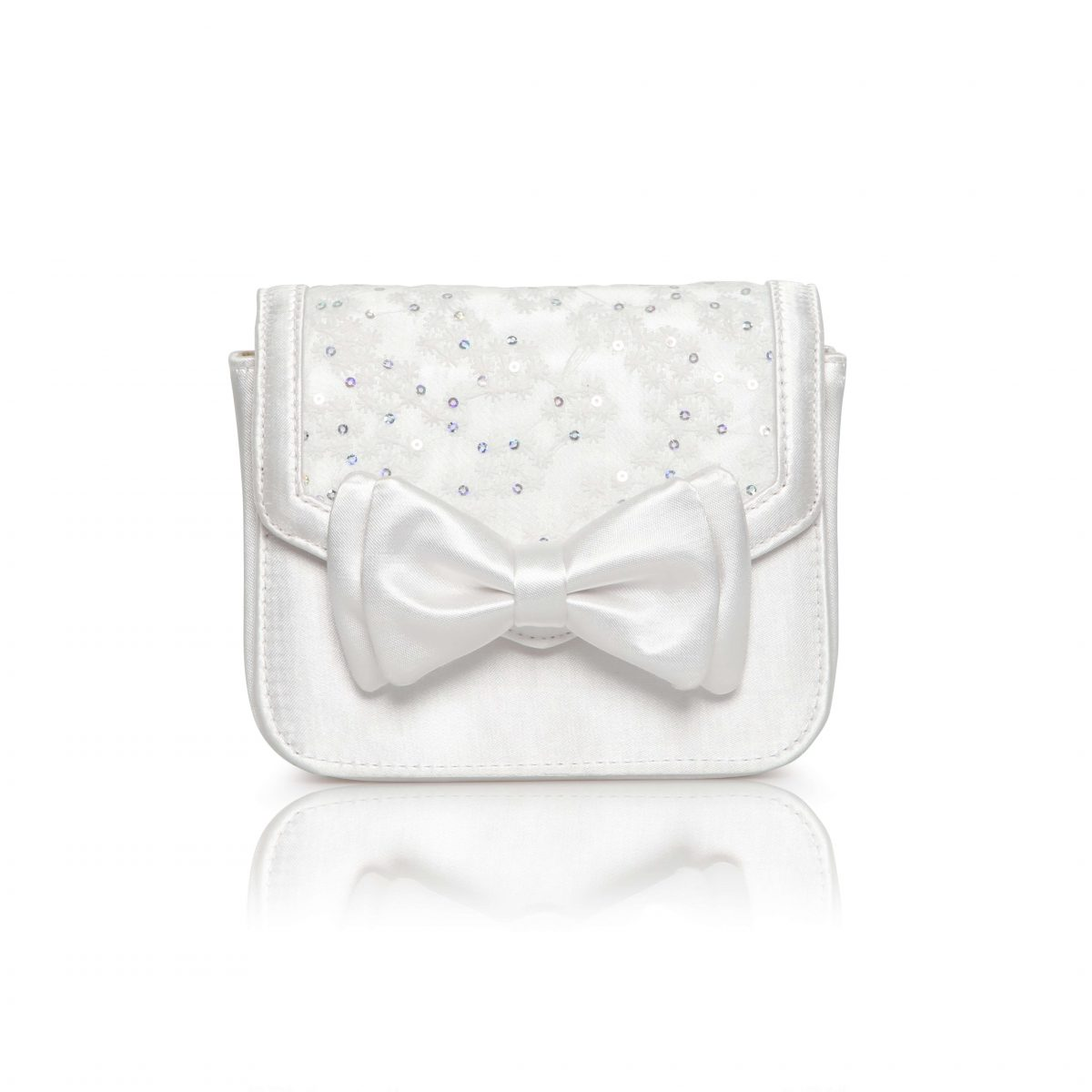 Perfect Bridal Pepper Bridal Bag - Ivory Dyeable Satin/Lace 1