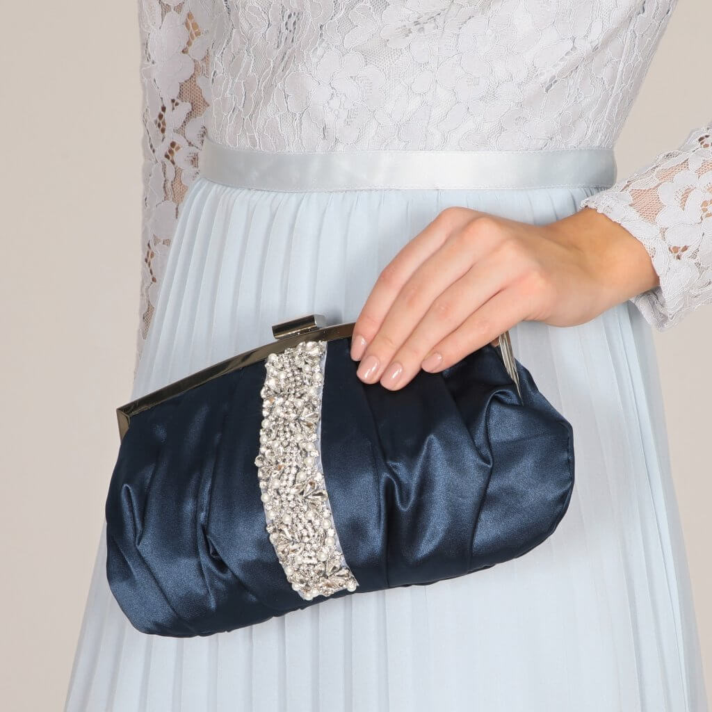 Perfect Bridal Saffron Bag - Navy 2