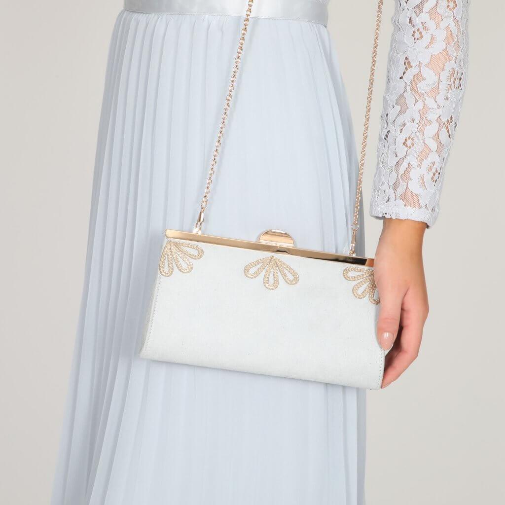 Perfect Bridal Sage Bag - Pearl Grey 2