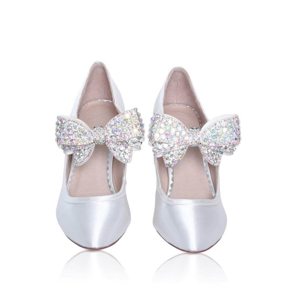 Perfect Bridal Zinnia Shoe Trim  - Silver sparkle 2