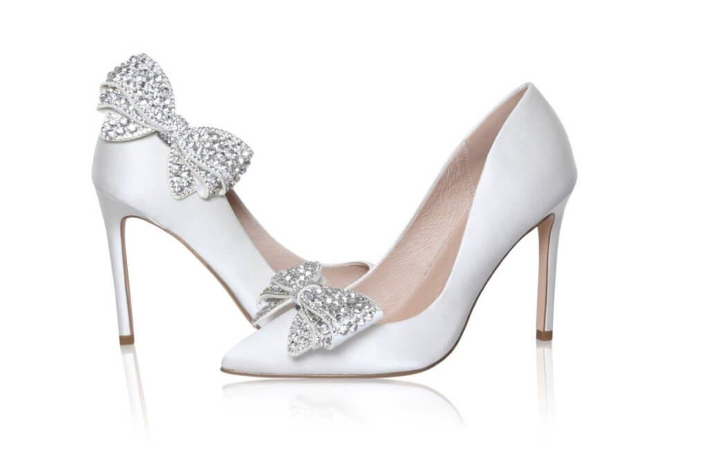 Perfect Bridal Zinnia Shoe Trim  - Silver sparkle 1