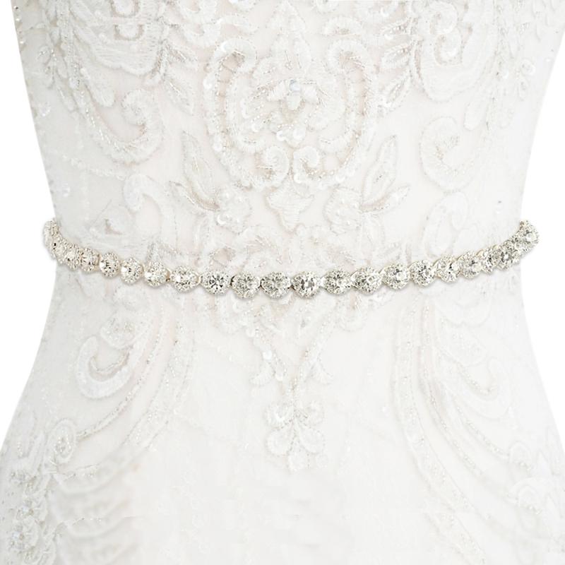 Athena Collection - Crystal Treasure Bridal Belt - Ivory 2