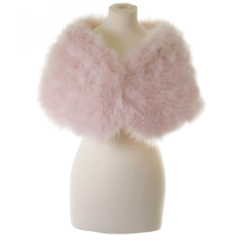 Athena Collection - Marabou Feather Wrap - Candy Floss Pink 4