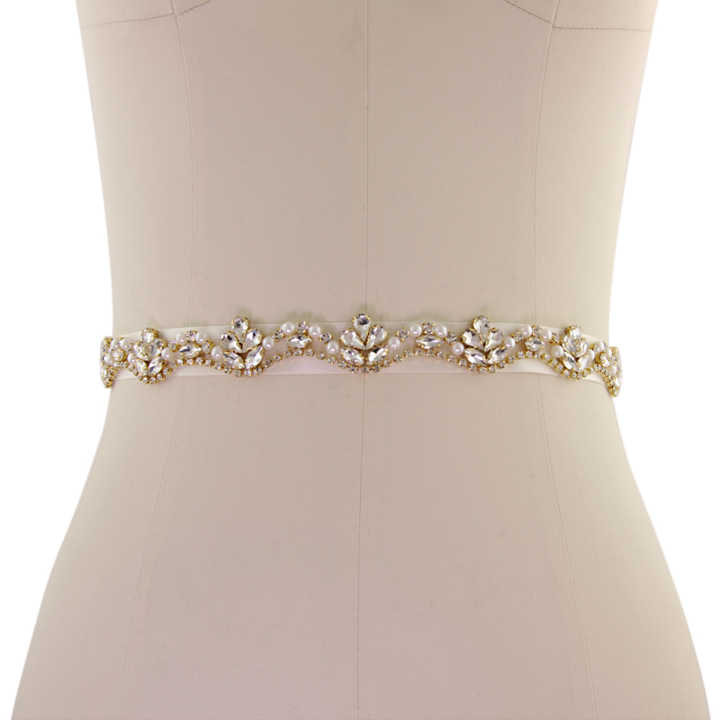 Athena Collection - Starlet Bridal Belt - Gold 1