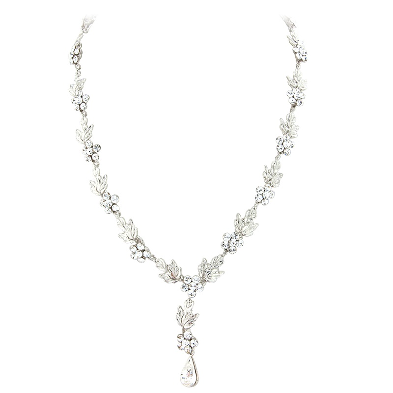 Elite Collection - Crystal Bridal Necklace Set - Clear 1