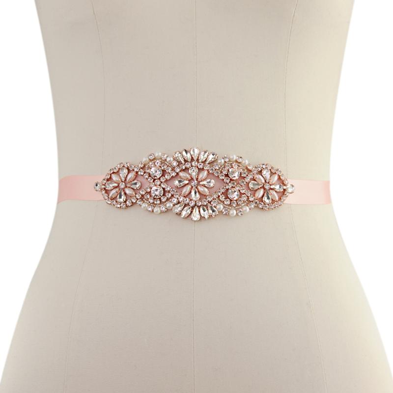 Athena Collection - Timeless Elegance Bridal Belt - Pink Rose 2