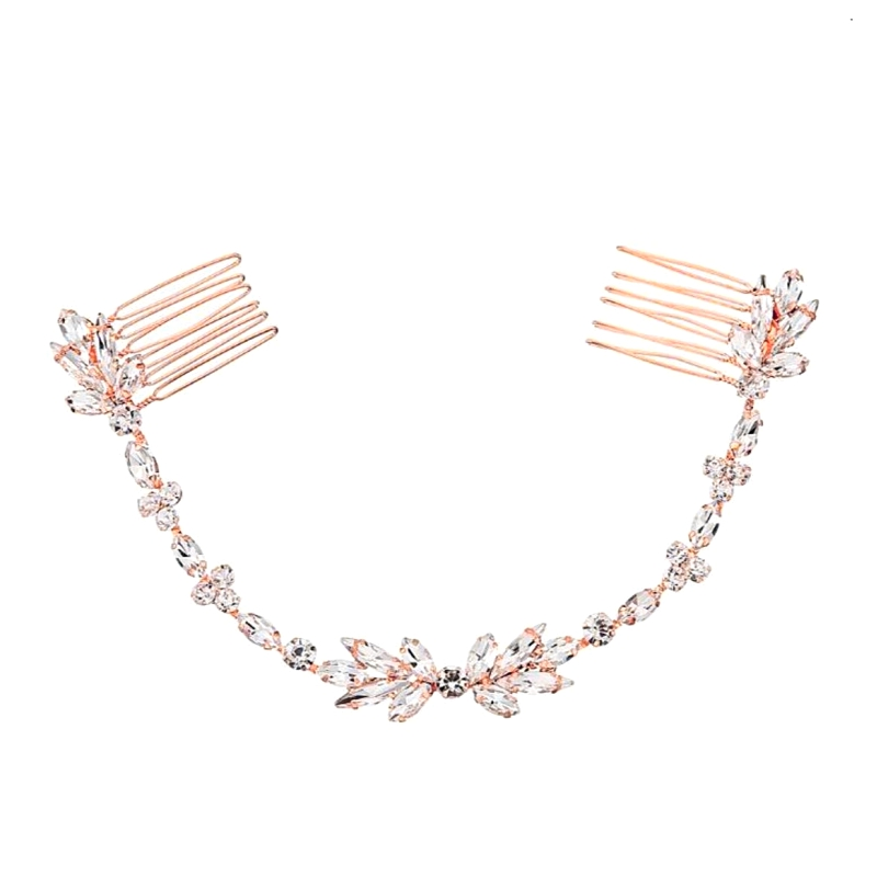 Athena Collection - Dainty Crystal Vine - Rose Gold 1