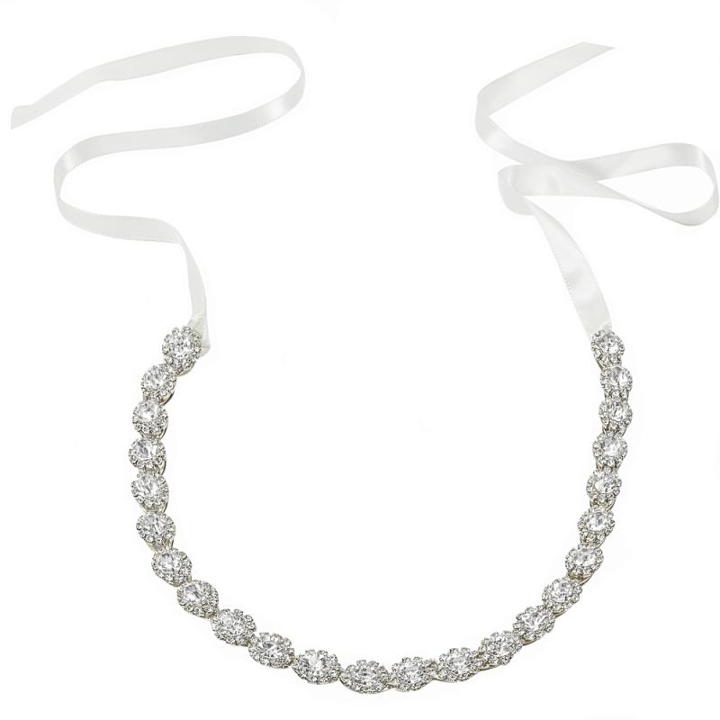 Athena Collection - Crystal Treasure Bridal Belt - Ivory 1