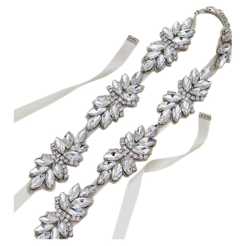 Athena Collection - Starlet Crystal Belt - Ivory 1
