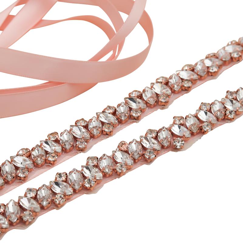 Athena Collection - Crystal Cluster Belt - Pink 2