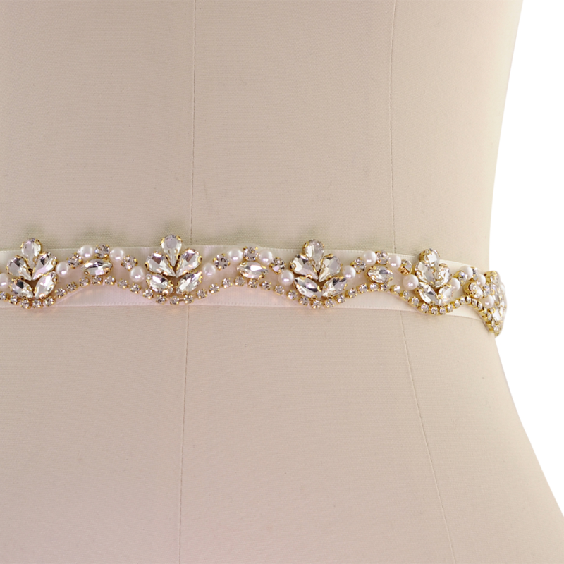 Athena Collection - Starlet Bridal Belt - Gold 2