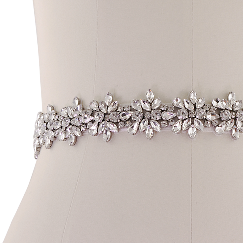 Athena Collection - Bejewelled Bridal Belt - Ivory 2