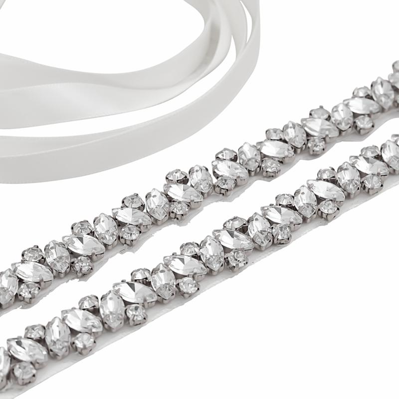 Athena Collection - Crystal Cluster Belt - Ivory 1
