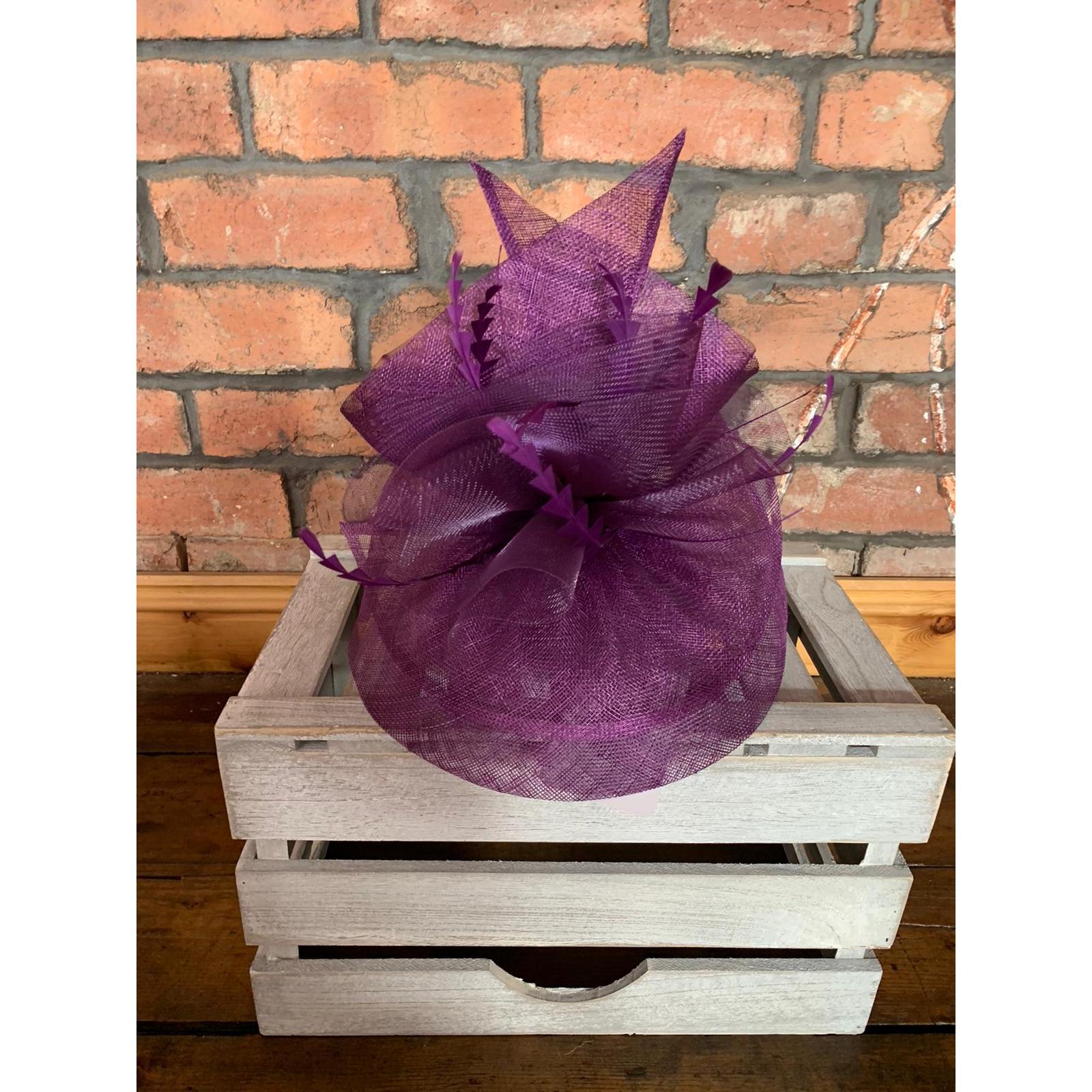 Fascinator Purple Majesty 1