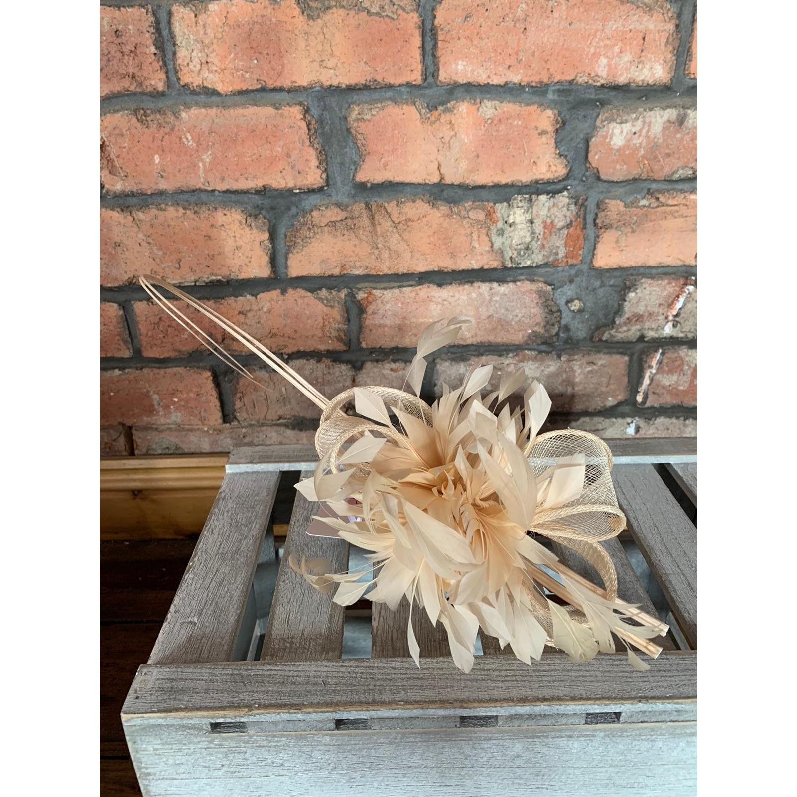 Fascinator Nude Feathers 1