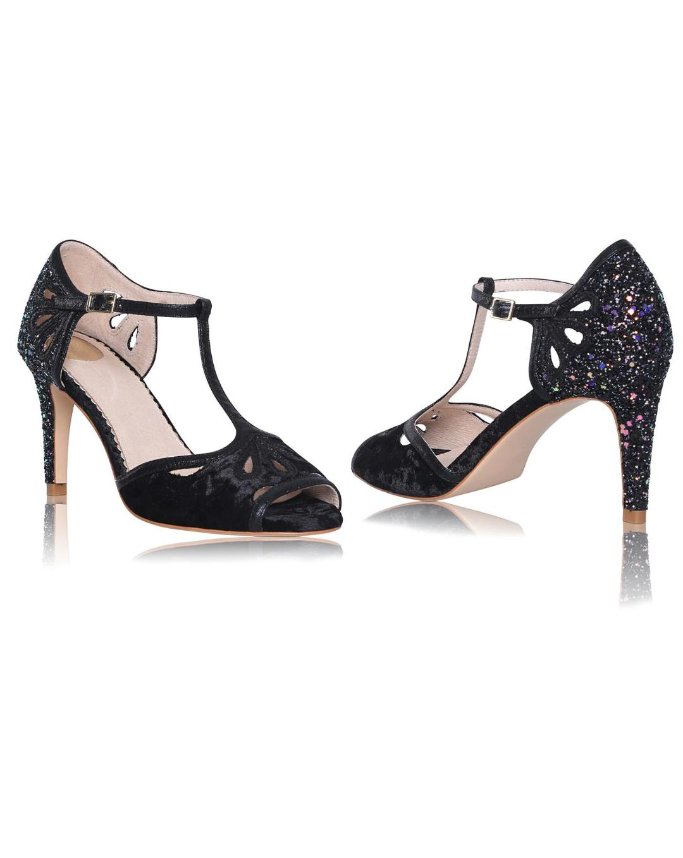 Perfect Bridal Esme Black/Black Glitter 2