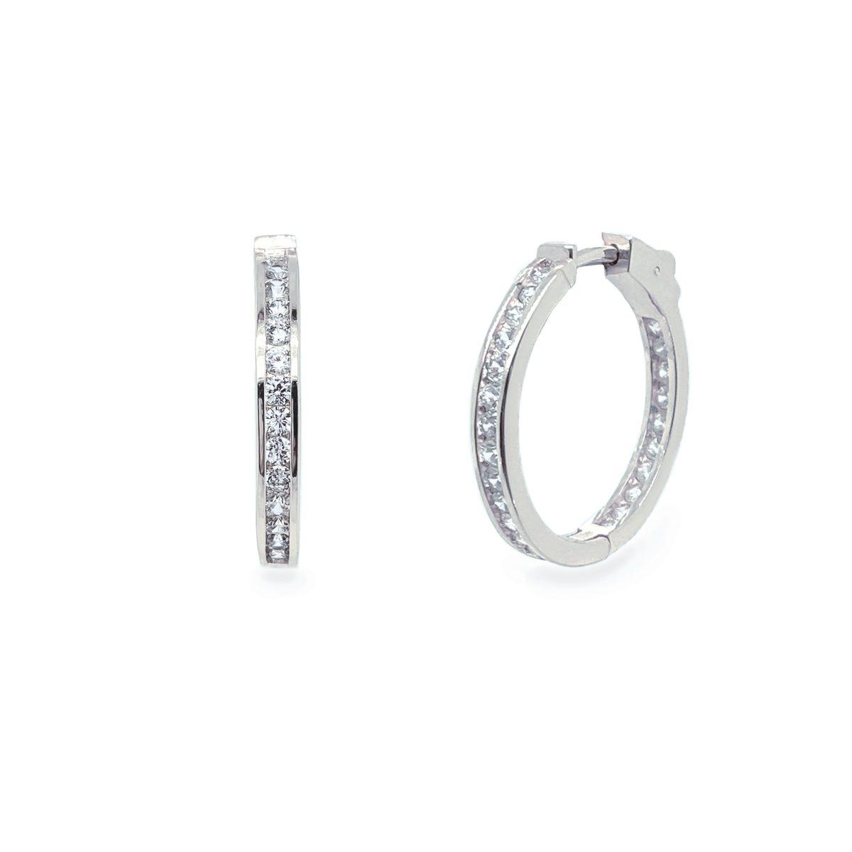 Ivory and Co Copenhagen Hoop Earrings - Silver 1