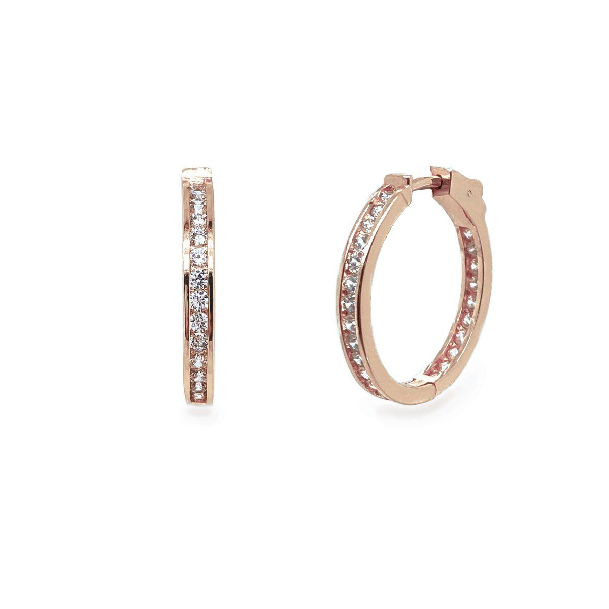 Ivory and Co Copenhagen Rose Hoop Earrings 1