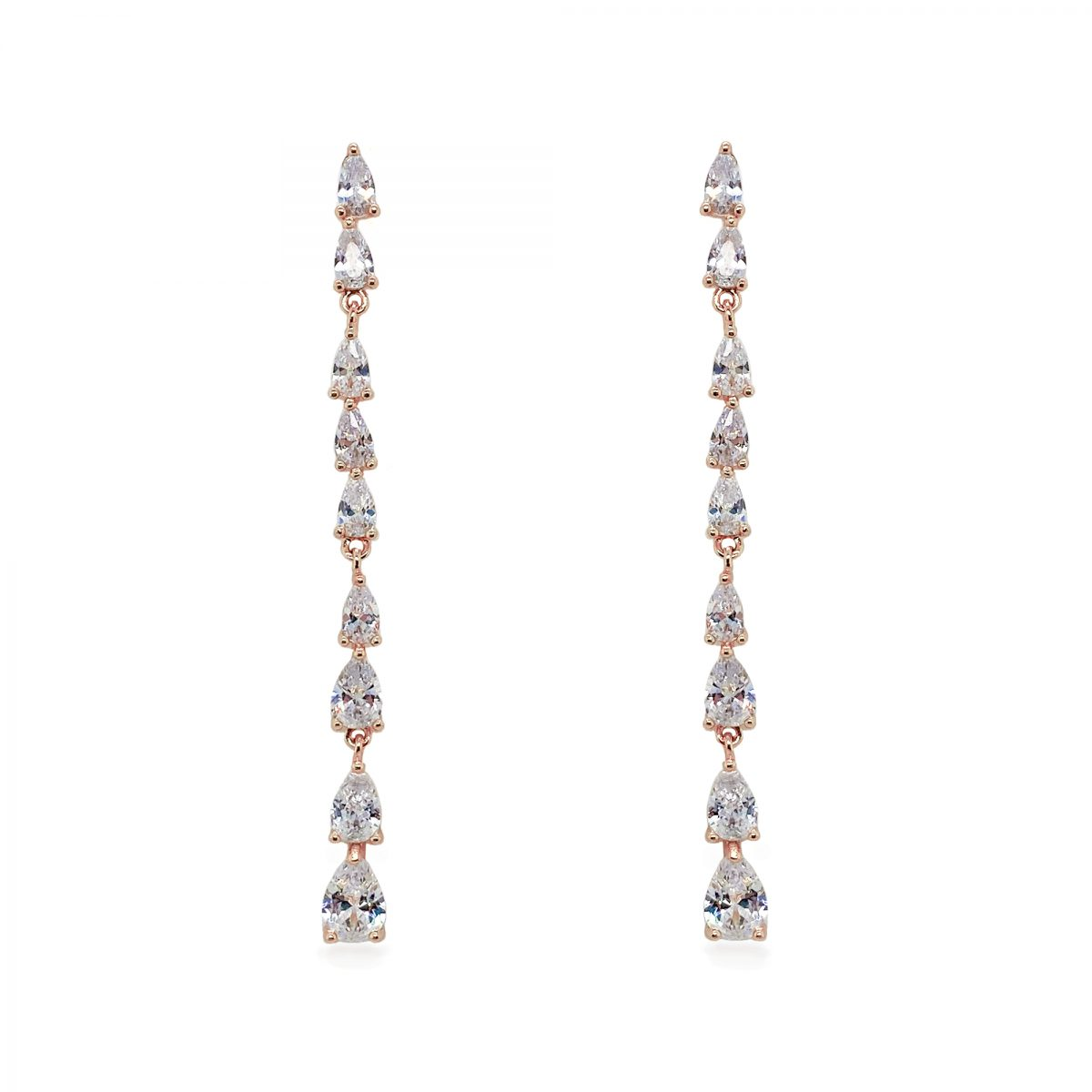 Ivory and Co Paris Rose Drop Earrings - Rose Gold 1