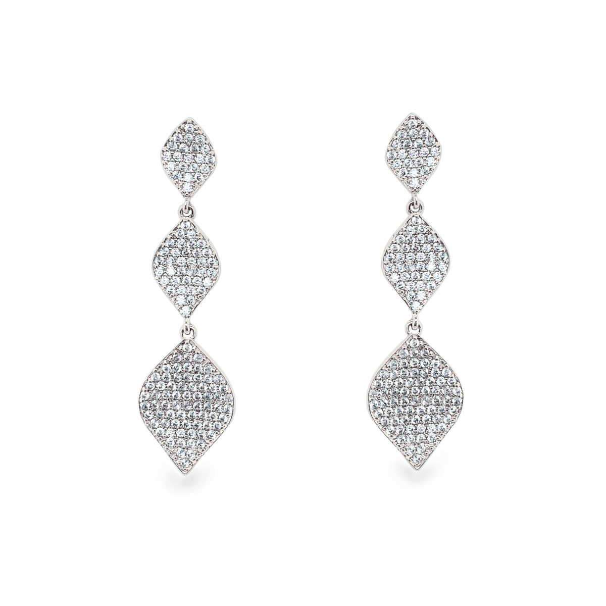 Ivory and Co Rochelle Earrings - Silver 1
