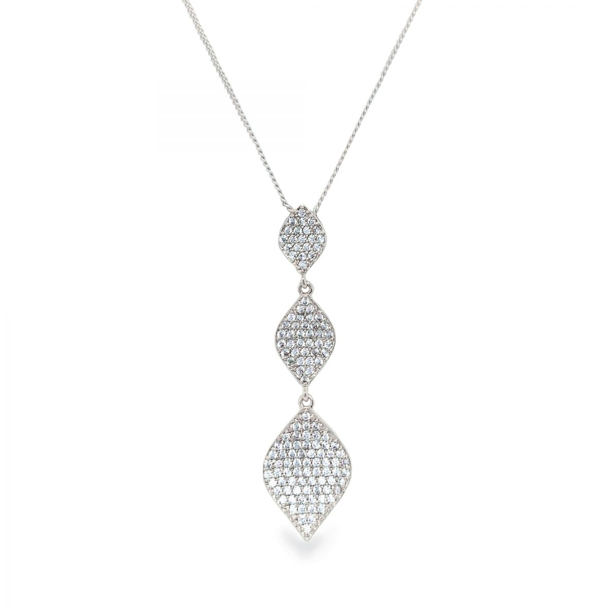Ivory and Co Rochelle Pendant - Silver 1