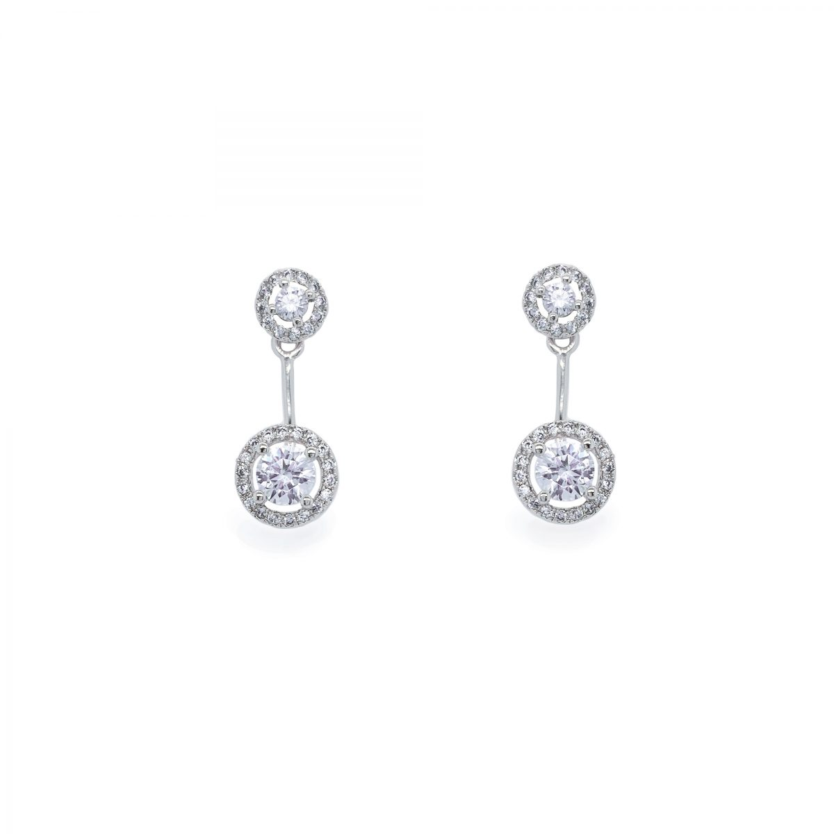 Ivory and Co Salisbury Earrings - Silver 1