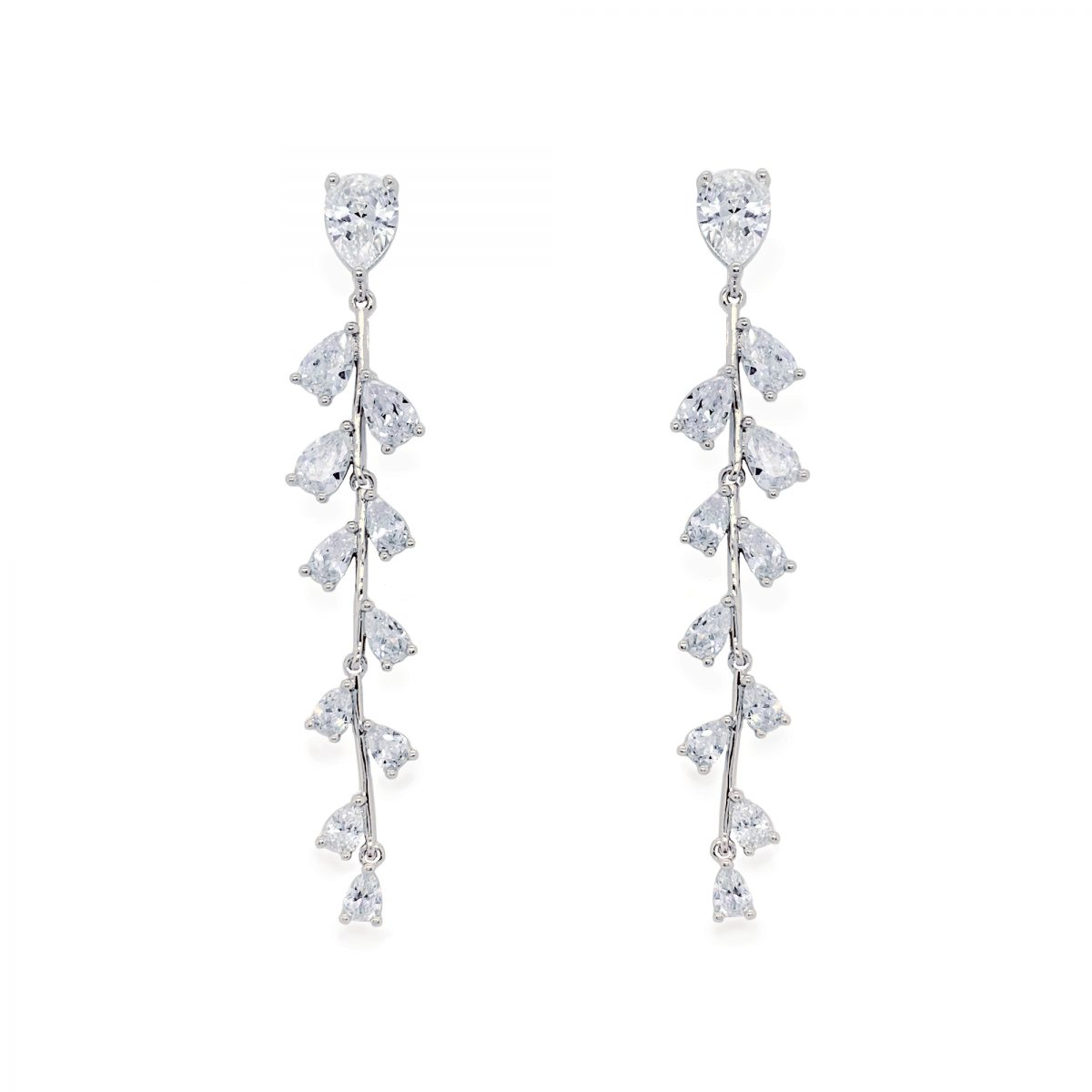 Ivory and Co Willow Drop Earrings - Silver 1