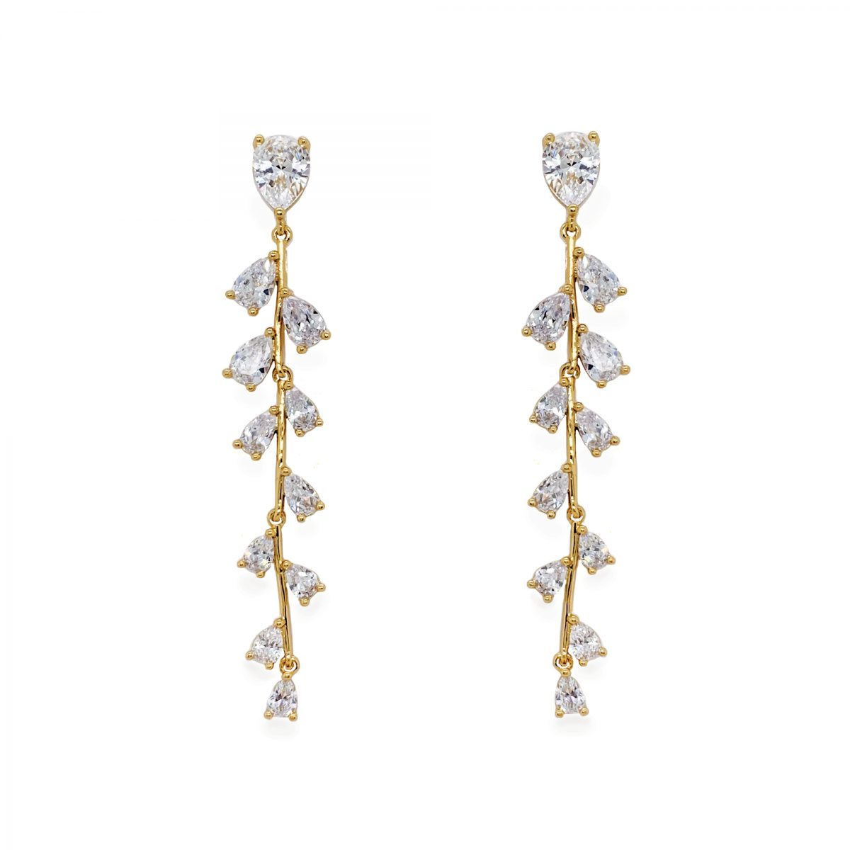 Ivory and Co Willow Drop Earrings - Gold 1