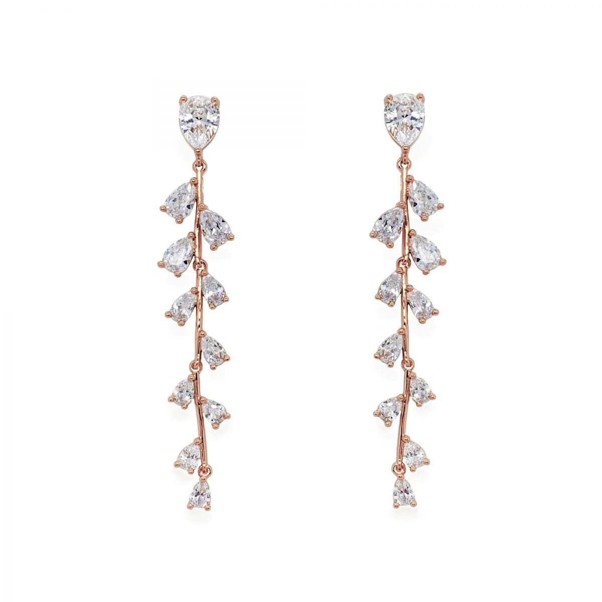 Ivory and Co Willow Drop Earrings - Rose Gold 1