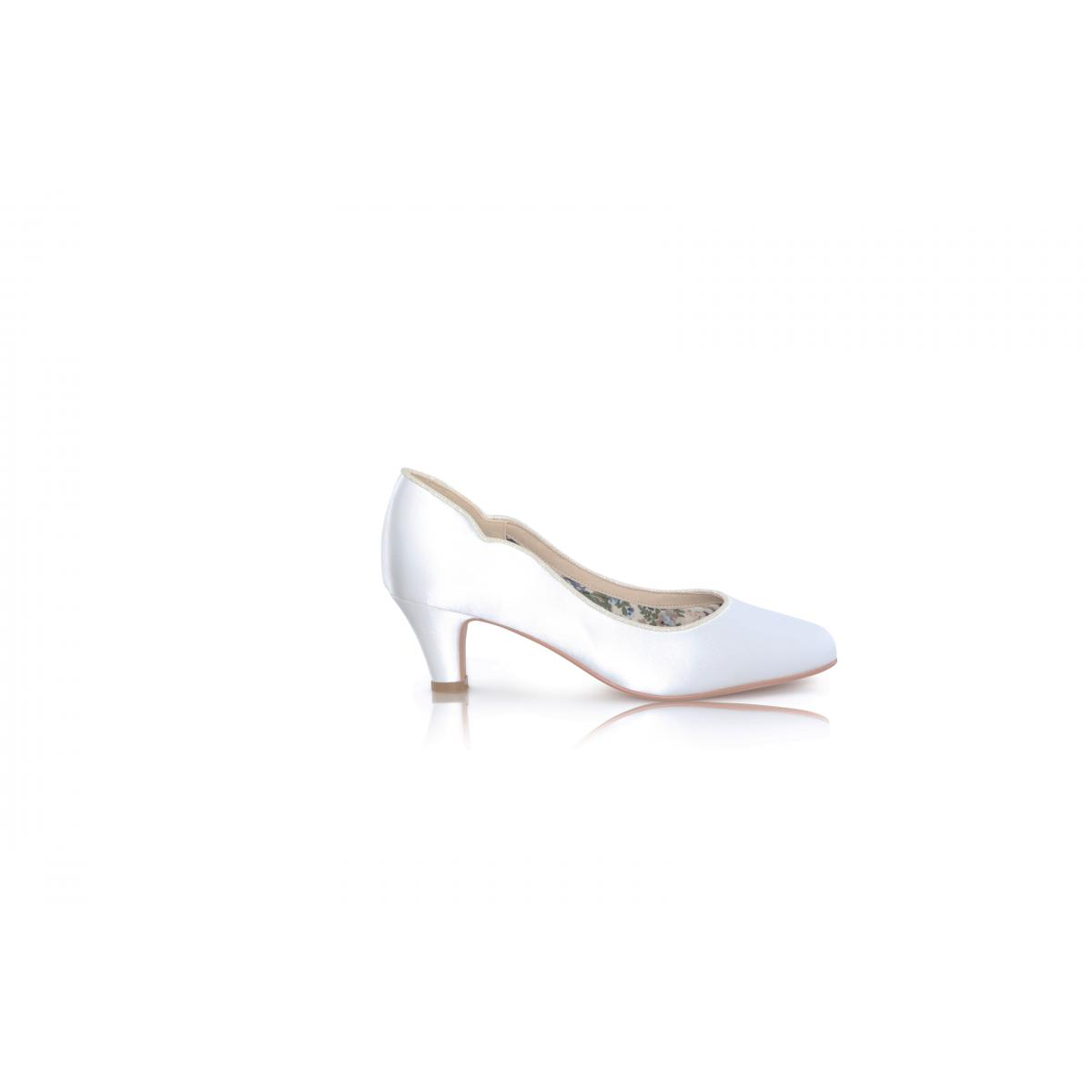 Perfect Bridal Adelyn Shoes - Ivory Satin 1