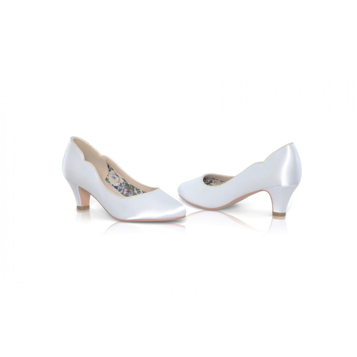 Perfect Bridal Adelyn Shoes - Ivory Satin 4