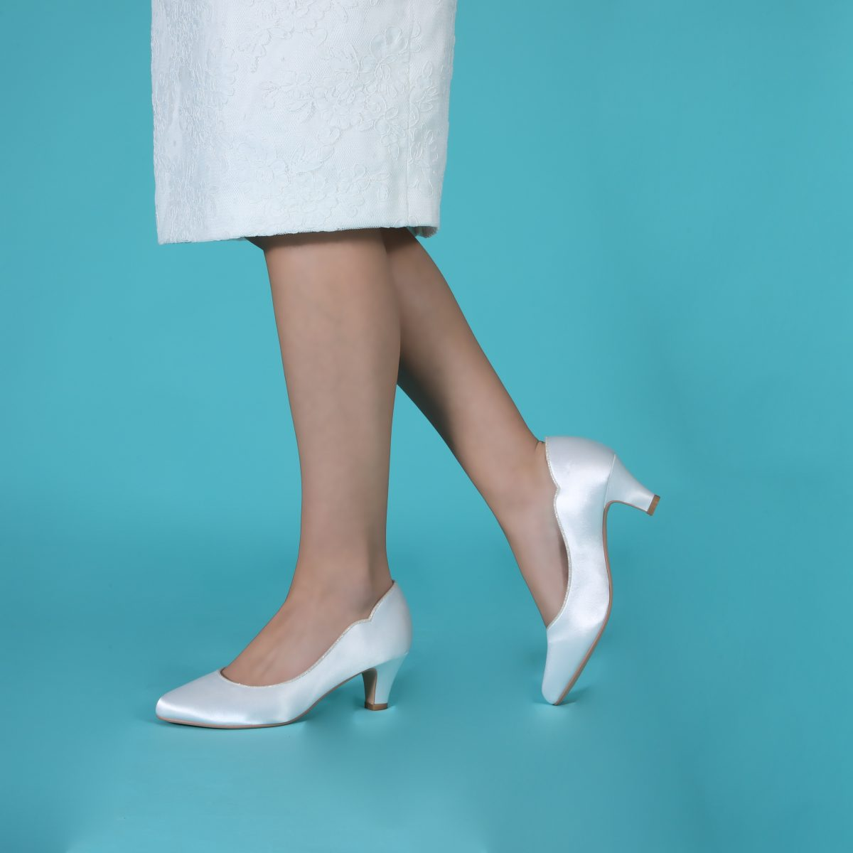 Perfect Bridal Adelyn Shoes - Ivory Satin 3